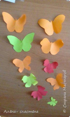 Бабочки из цветной бумаги фото 5