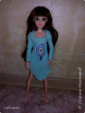 """Здравствуйте, это заключительная """"на пока"""" часть гардероба для моей куклы, кстати он подходит и Барби, мы мерили на Барби супер движения  фото 7"""