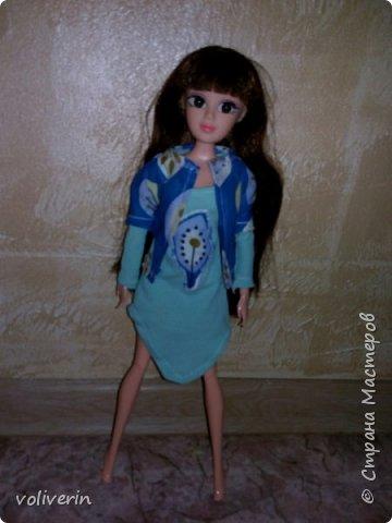 """Здравствуйте, это заключительная """"на пока"""" часть гардероба для моей куклы, кстати он подходит и Барби, мы мерили на Барби супер движения  фото 6"""