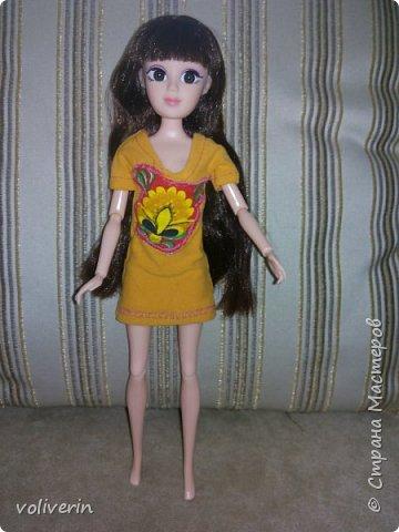 """Здравствуйте, это заключительная """"на пока"""" часть гардероба для моей куклы, кстати он подходит и Барби, мы мерили на Барби супер движения  фото 10"""