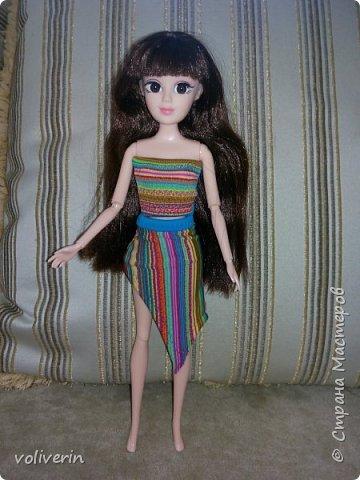 """Здравствуйте, это заключительная """"на пока"""" часть гардероба для моей куклы, кстати он подходит и Барби, мы мерили на Барби супер движения  фото 8"""