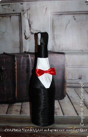 бутылки и бокалы для красной свадьбы фото 3