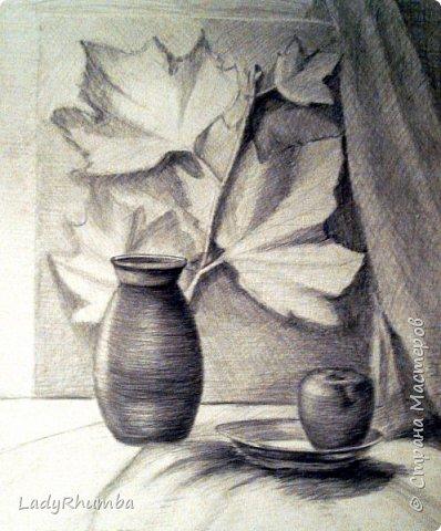 Всем доброго дня!   Сегодня показываю свои натюрморты. Многие из художки, некоторые писала даже по своей воле, хехехе. Прошу гнилыми помидорками не бросаться.  фото 5