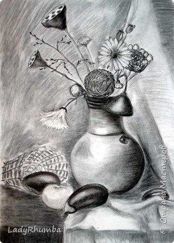 Всем доброго дня!   Сегодня показываю свои натюрморты. Многие из художки, некоторые писала даже по своей воле, хехехе. Прошу гнилыми помидорками не бросаться.  фото 3