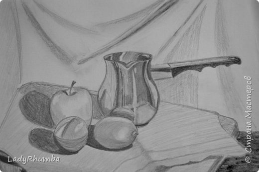 Всем доброго дня!   Сегодня показываю свои натюрморты. Многие из художки, некоторые писала даже по своей воле, хехехе. Прошу гнилыми помидорками не бросаться.  фото 13