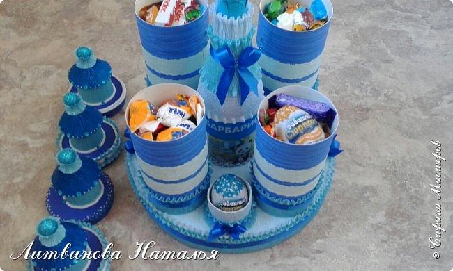Заказ для любимой клиентки......у нее трое деток....и даже есть внучок )))      Все как обычно.....замки полные конфет )  Ну и лимонад ..... фото 2