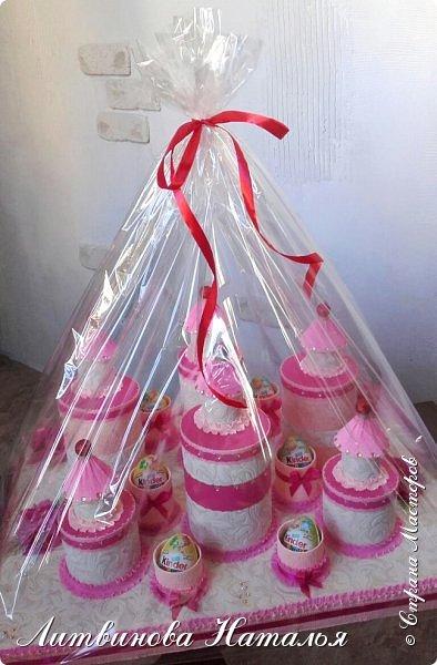 Заказ для любимой клиентки......у нее трое деток....и даже есть внучок )))      Все как обычно.....замки полные конфет )  Ну и лимонад ..... фото 10