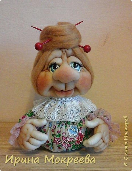 Здравствуйте,жители страны ,хочу показать вам бабушку с секретиком внутри.Такую куклу мы  будет делать на занятии с ученицами,это типа образец. фото 1