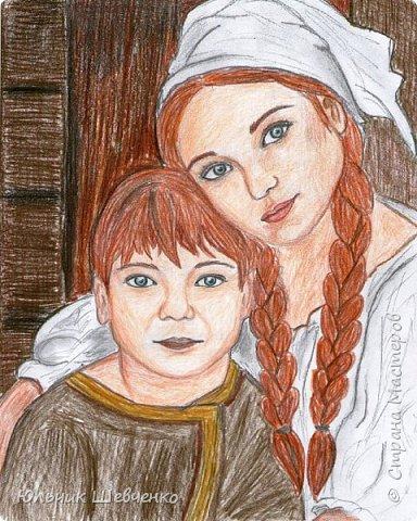 #рисунок #портрет #брат_и_сестра #цветные_карандаши #простой_карандаш ✏✏✏✏✏✏✏✏✏✏