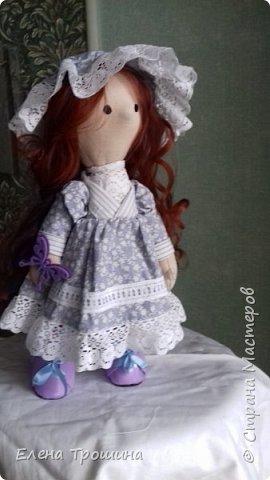 Это моя первая кукла Варвара. Она получилась очень взрослая и серьезная. Пробовала менять положение глаз, лучше не становилось. фото 1