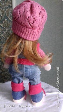 Это моя первая кукла Варвара. Она получилась очень взрослая и серьезная. Пробовала менять положение глаз, лучше не становилось. фото 5