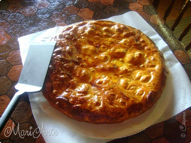Здравствуйте всем, кто заглянул в гости!!  Хочу предложить вам быстрый рецепт пирога из слоёного теста, с грибами и ветчиной фото 22