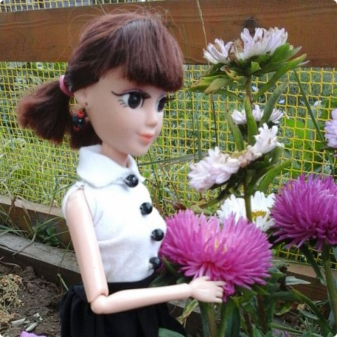 """Доброе время суток! Сегодня я сдаю работу на конкурс """" Школьные деньки"""" Её представляет Алиса. Она переходит в этом году в 8 класс. http://stranamasterov.ru/node/1042660 фото 8"""