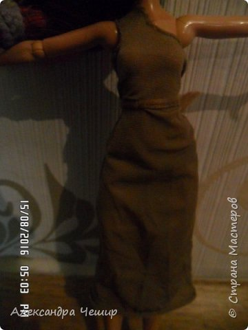 Здравствуйте, уважаемая Страна Мастеров!   Я хочу показать вам платье, сшитое из капрона.   Платье через плечо. Можно одевать, как с поясом, так и без.   Простите за качество!  фото 3