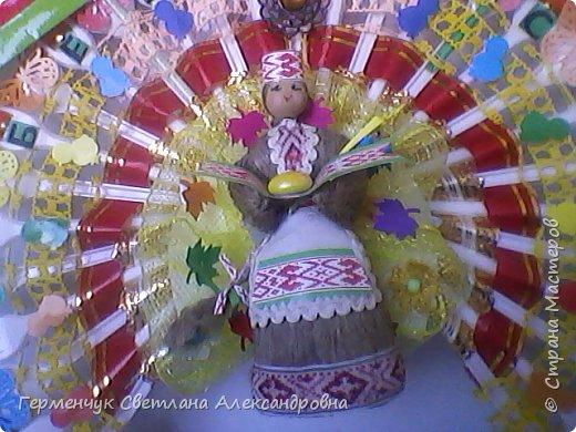 Это веер  на тематику  - Беларусь. Изготовила  его для классного уголка. фото 2