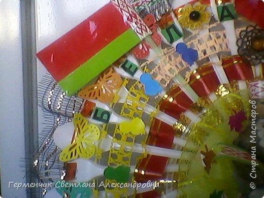 Это веер  на тематику  - Беларусь. Изготовила  его для классного уголка. фото 3