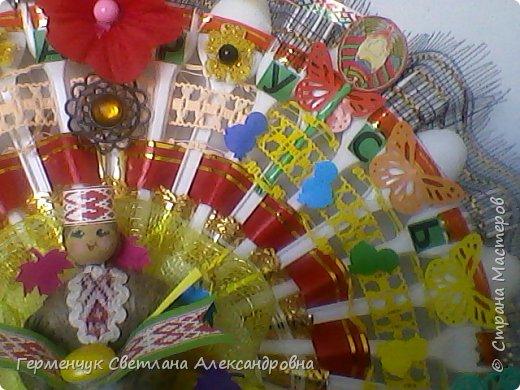 Это веер  на тематику  - Беларусь. Изготовила  его для классного уголка. фото 4