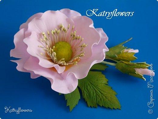 """Брошь- заколка """"Нежность"""". Цветок - немного стилизованный мак. фото 1"""