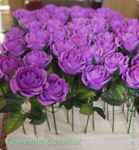 У всех идет подготовка к 1 сентября, а у нас свадебный переполох!!!! Заказали цветы в качестве бомбоньерок. И в связи с этим, дома появилась клумба с розами, целых 70 штук.  Нарезая тысячный лепесток, мне даже казалось, что они пахнут!!!))))) Н фото 1