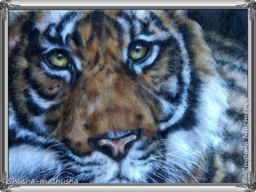 Живопись шерстью. Тигр, котята фото 1