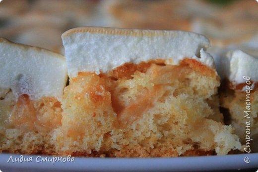 На самом деле здесь главное действующее лицо не пирог, а моя досочка в стиле браширования. Я просто балдею от того, как самобытно, колоритно выглядит выпечка на них)) А пирог прост: стандартный рецепт бисквита (2 яйца+0,75 дл. сахара+1,5 дл муки+чайная ложка разрыхлителя) и бисквит (4 белка+1,5 дл. сахара+1/4 ч.л. лимонной кислоты). И между ними тоооолстый слой яблок. Их в этом году очень много на яблоне уродилось)) фото 4