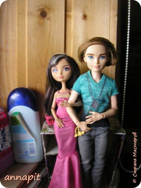 Привет, я Спектра и сегодня пока Ани нету я вас познакомлю с некоторыми кукло-жителями.Аня мне сшила этот домашний комплект. Это я. Биография Имя: Спектра Вондергейст Возраст: 17 лет Учится с Лучшими подругами Сериз и Рози.  фото 11