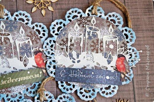 И снова здравствуйте! Продолжаю показывать новогодние работы. Любимая моя форма открыточки (да и не только открыток)) ).Первая круглая открыточка диаметр которой 15 см. фото 16