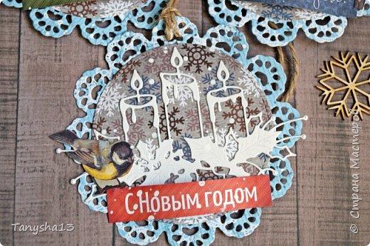 И снова здравствуйте! Продолжаю показывать новогодние работы. Любимая моя форма открыточки (да и не только открыток)) ).Первая круглая открыточка диаметр которой 15 см. фото 17