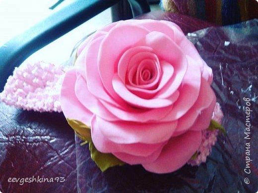 Заколка-автомат с розами из фоамирана фото 9