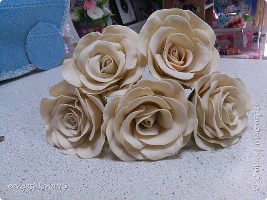 Заколка-автомат с розами из фоамирана фото 10