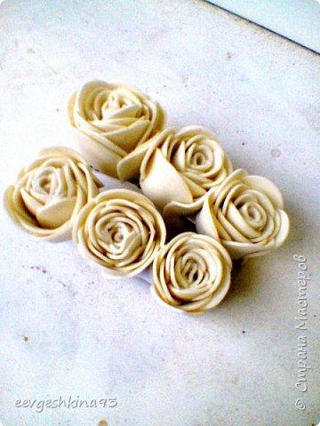 Заколка-автомат с розами из фоамирана фото 11