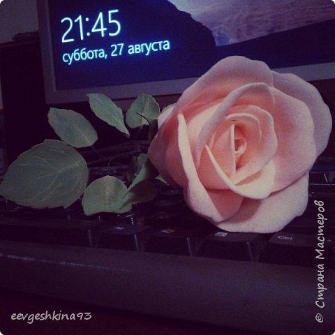 Заколка-автомат с розами из фоамирана фото 18