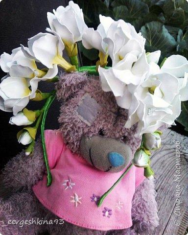 Заколка-автомат с розами из фоамирана фото 16