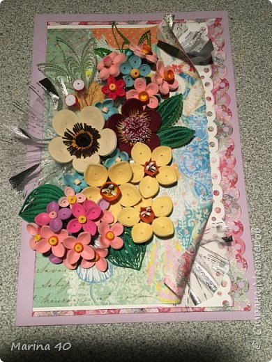 I made this card for my moms birthday  фото 7