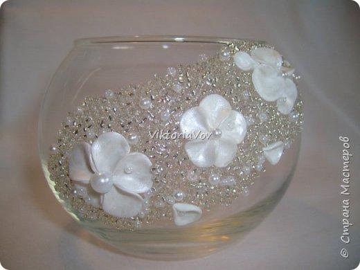 Всем здравствуйте! Немного опасаясь, хочу показать мои первые шаги в работе с полимерной глиной и стеклом. Даже ранее опубликованные бокалы были сделаны после этих вазочек. фото 1