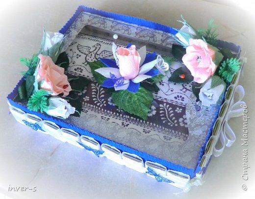 Подарок на юбилей мамы) Подарок, как и полагается с сюрпризом.В коробочке красивая праздничная льняная скатерть. Ну, а к ней сладкий бонус))  Это скатерть самобранка, которая подверглась моей бурной фантазии при оформлении её в подарок)) фото 6