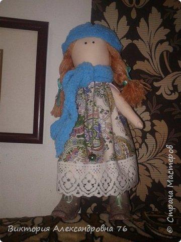 Интерьерная кукла в подарок любимому учителю моего сына  - преподавателю английского языка Ганиной Елене Анатольевне.   фото 16