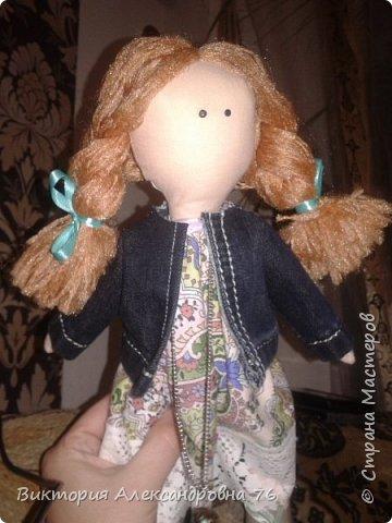 Интерьерная кукла в подарок любимому учителю моего сына  - преподавателю английского языка Ганиной Елене Анатольевне.   фото 18