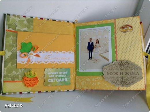 Продолжаю осваивать скрапбукинг. Свадебный альбом и открытка к нему: фото 3
