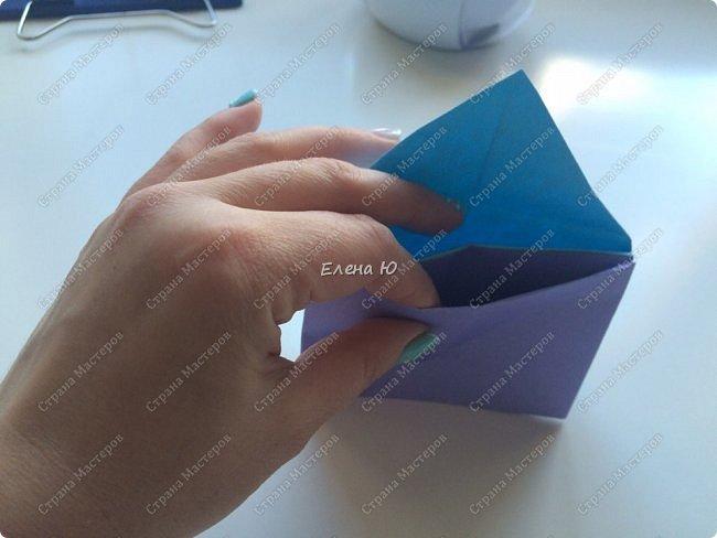 Предлагаю к знаменательному для всех событию сложить такой портфельчик в технике оригами:  фото 12