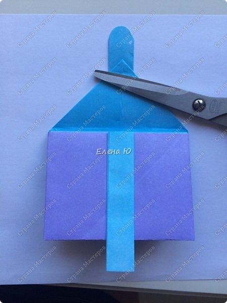 Предлагаю к знаменательному для всех событию сложить такой портфельчик в технике оригами:  фото 18