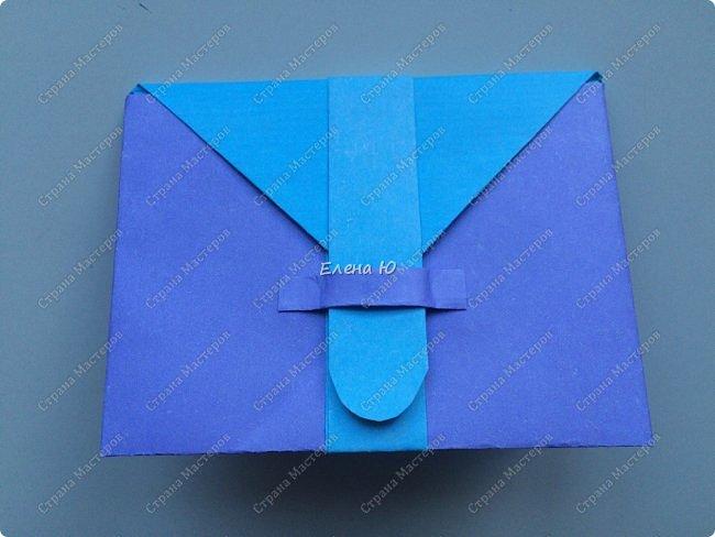 Предлагаю к знаменательному для всех событию сложить такой портфельчик в технике оригами:  фото 19