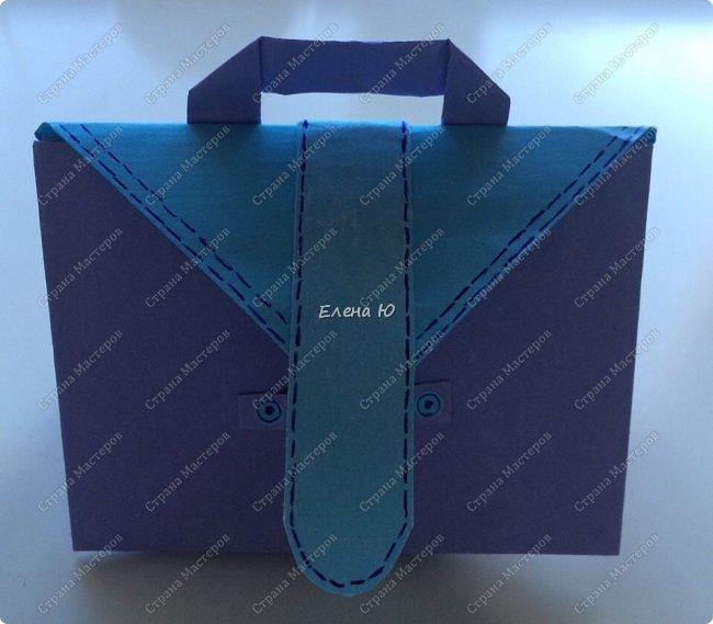 Предлагаю к знаменательному для всех событию сложить такой портфельчик в технике оригами:  фото 20