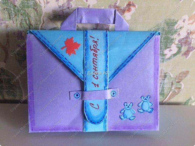 Предлагаю к знаменательному для всех событию сложить такой портфельчик в технике оригами:  фото 21