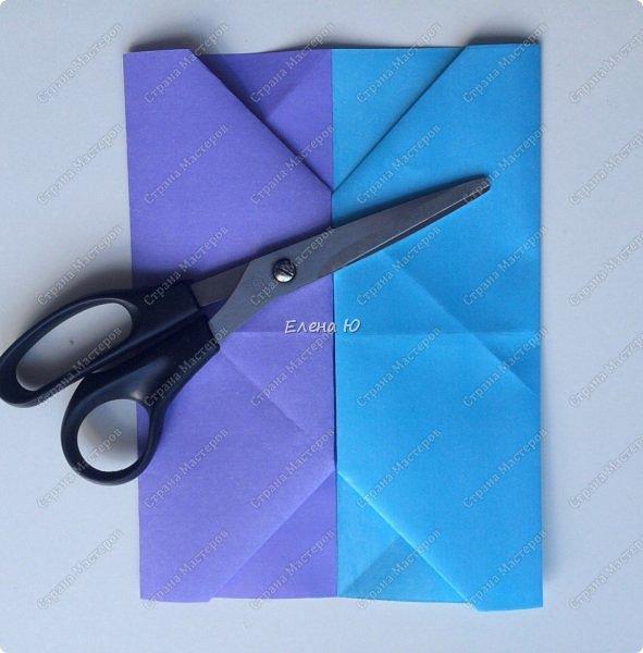 Предлагаю к знаменательному для всех событию сложить такой портфельчик в технике оригами:  фото 7