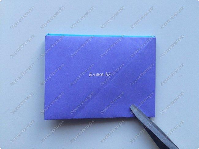 Предлагаю к знаменательному для всех событию сложить такой портфельчик в технике оригами:  фото 10