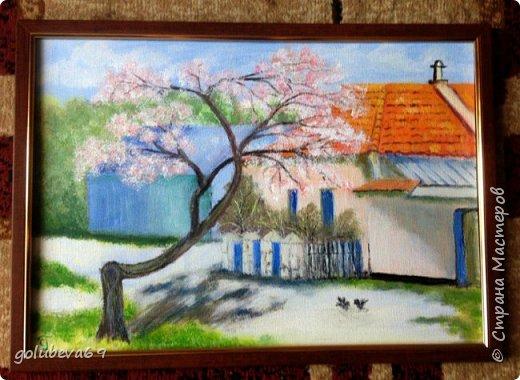 Картина написана по МК Дмитрия Харченко на весеннем интенсиве. Акрил на холсте. Размер картины 35X50. фото 1