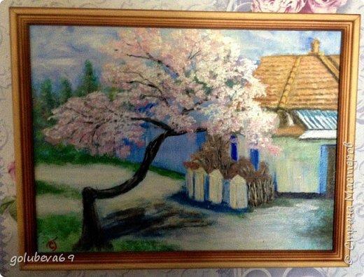 Картина написана по МК Дмитрия Харченко на весеннем интенсиве. Акрил на холсте. Размер картины 35X50. фото 2