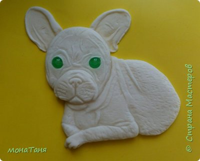 Здравствуйте! Хочу показать собаку которую слепила из холодного фарфора. Очень  интересно ваше мнение. фото 3