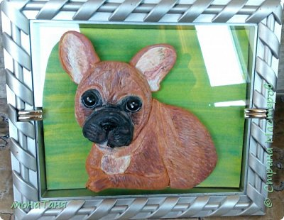 Здравствуйте! Хочу показать собаку которую слепила из холодного фарфора. Очень  интересно ваше мнение. фото 2
